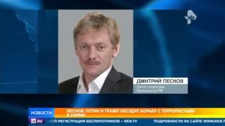 Песков: Путин и Трамп обсудят борьбу с террористами в Сирии