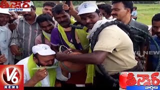 Jangaon MLA Yadi Reddy Drinks Toddy Water At Haritha Haram Program | Teenmaar News