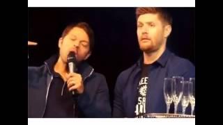 Jensen and Misha speaking in British accents