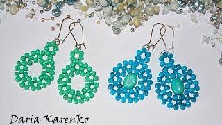 DIY Плетёные серьги из бусин. Легко и красиво! Мастер класс \ Wicker earrings from beads