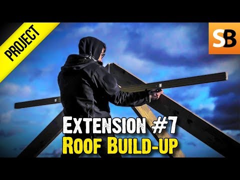 Building an Extension #7 - Roof Build-up & 3 4 5 Rule