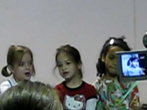 2008: Lyceum Kennedy school:-performing her first holiday show song, part 1