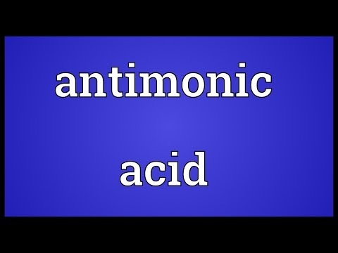 Header of antimonic acid