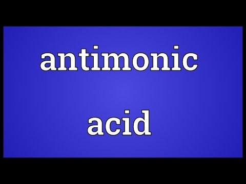 Header of antimonic acid