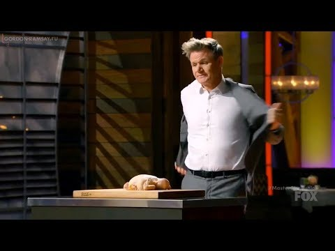 Гордон показывает как разделывать курицу - Мастершеф Дети