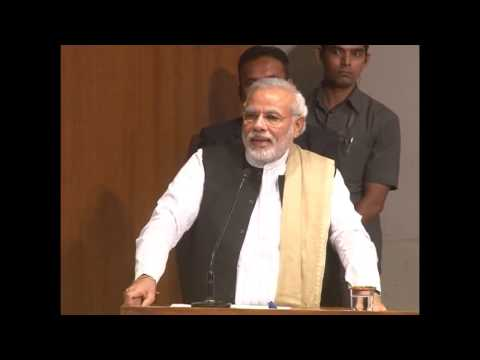 Narendra Modi addressing Global Health Summit, 2014 organised by AAPI at AMA