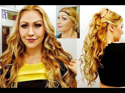 RIZOS SIN CALOR y peinado romántico No heat curly-wavy hair tutorial-