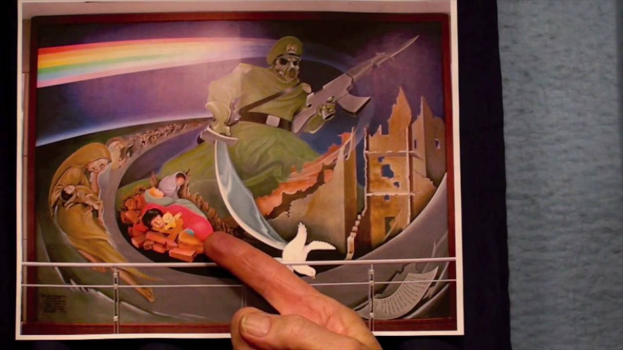 Denver airport murals prophecies from satan youtube for Definition of mural