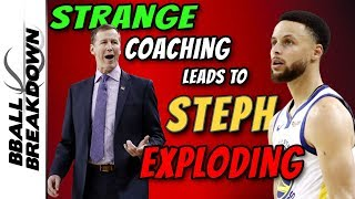 Strange Coaching Leads To Curry Roasting: Game 1 Western Conference Finals