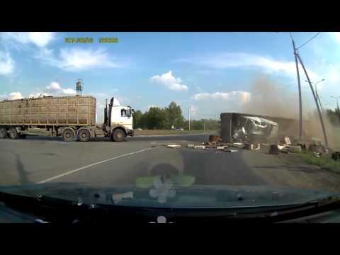 Truck Flips Over