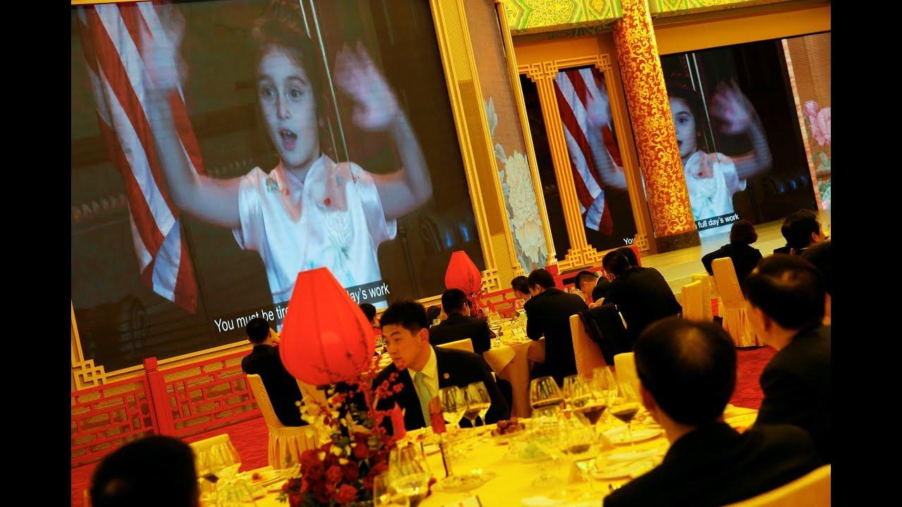 As Trump visits China, his granddaughter charms with Mandarin song
