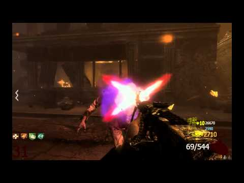 Call of duty: Black Ops 2 Зомби-режим. Кусок ночного забега в городе.