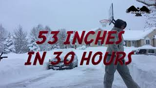 RECORD BREAKING SNOWSTORM 53 INCHES ERIE PA TIMELAPSE OF SNOWPACOLYPSE 2017 BY CONDOR CREATIVE