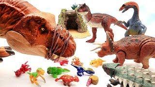 T-Rex ate Little Dinosaurs! Let's Defeat T-Rex. Jurassic World2, Schleich Dinosaur Toys.