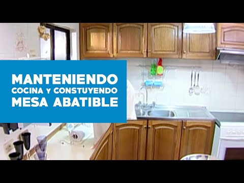 C mo mantener la cocina y construir una mesa abatible for Mesa abatible pared cocina