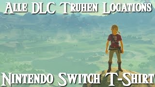ZELDA: BREATH OF THE WILD- Alle DLC Truhen Locations / Nintendo Switch T-Shirt