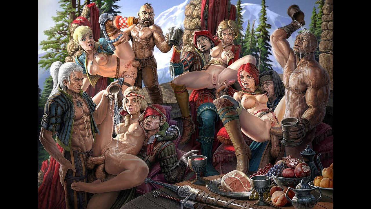 Witcher 2 girl nude hentai cartoon scene