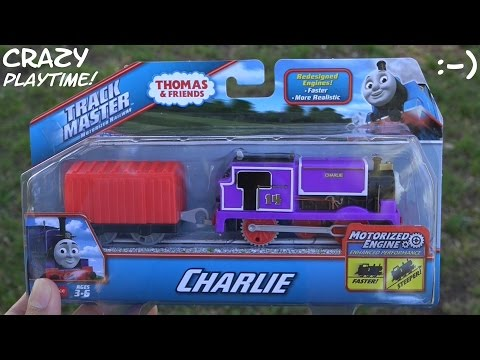 Thomas & Friends Trackmaster Charlie Unboxing + Kiddie Slide And Swing Playtime video