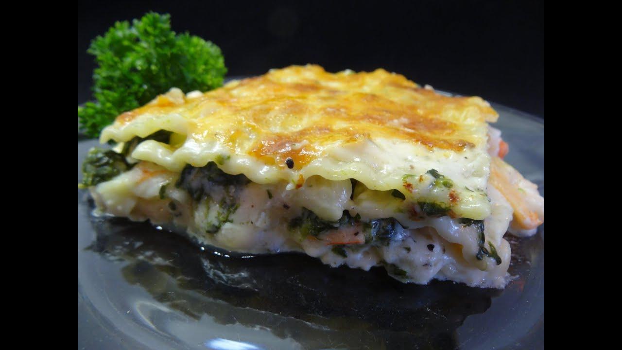 Seafood Lasagna -with yoyomax12 - YouTube
