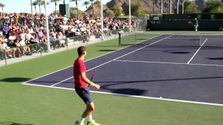 Grigor Dimitrov Practice 2017 BNP Paribas Open Indian Wells