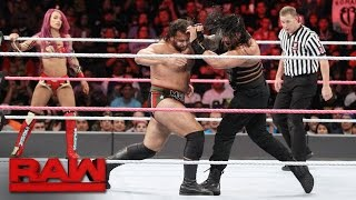Roman Reigns & Sasha Banks vs. Rusev & Charlotte - Mixed Tag Team Match: Raw, Oct. 10, 2016