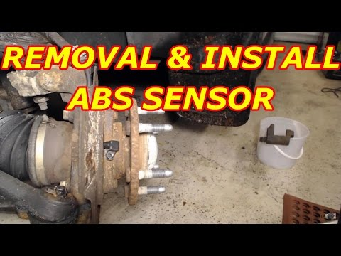2003 Chevrolet S10 ABS Wheel Sensor Replacement   How To ...