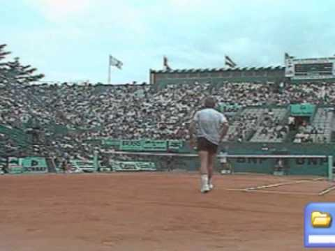 Johan Kriek beats Guillermo Vilas - Roland Garros 1986 Quarter Final / 3rd Set