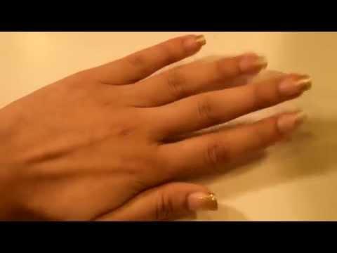 فيديو طريقة عمل مناكير ذهبي متدرج لجميع الاعمار