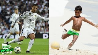 Cristiano Ronaldo with his son - like father like son