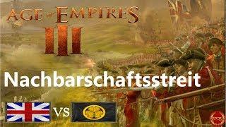 Age of Empires III - 1vs1 gegen Japaner | Nachbarschaftsstreit [Deutsch/HD/Gameplay]