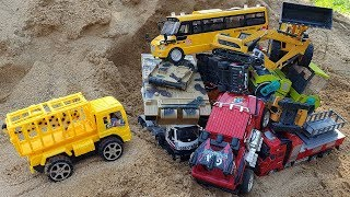 Find Construction Vehicles Toys In Sand And Learning Vehicles Names Toys for Kids