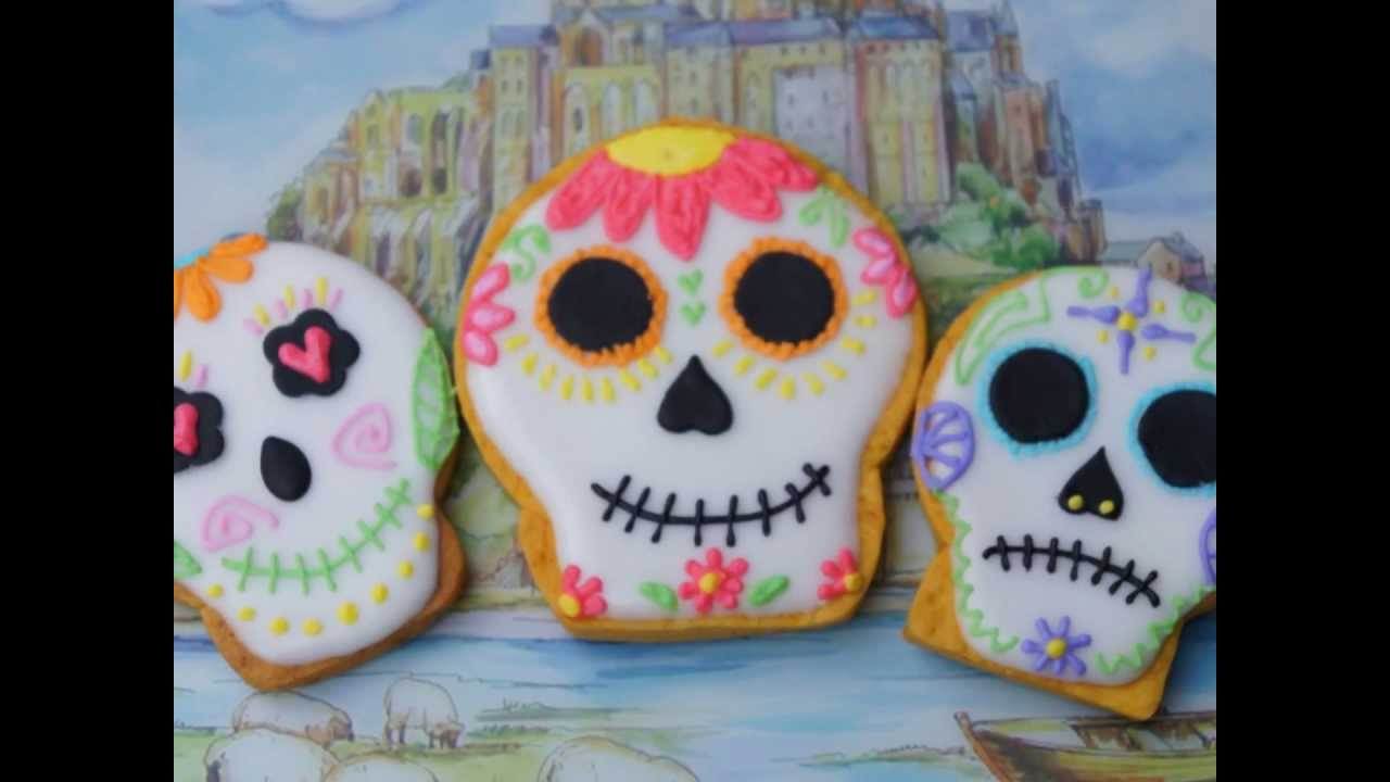 Mexican Decorated Skulls Mexican Sugar Skull Cookie
