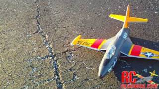 Hobby-Lobby F9F Panther - Test Flight 1-23-2011