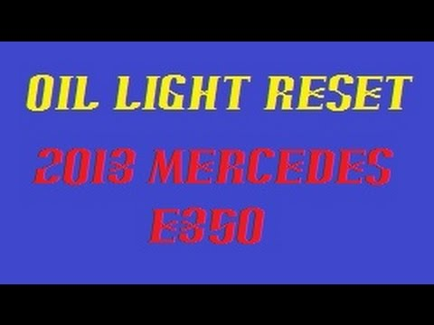 Maintenance reset 2013 Mercedes E350