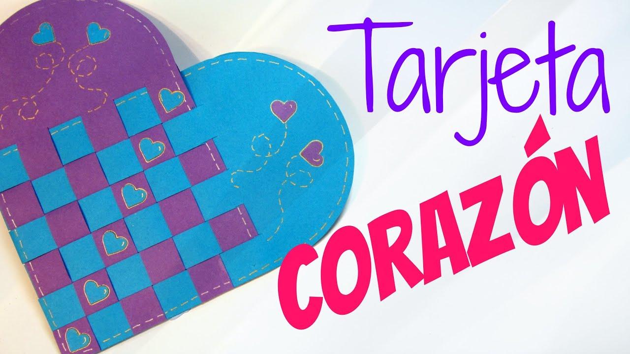 Tarjeta de coraz n trenzado san valent n heart card - Corazones de san valentin ...