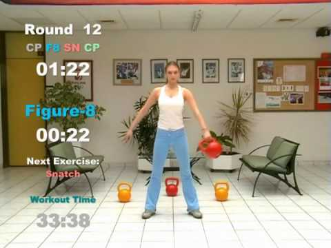 KETTLEBELL CARDIO Workout - ROUND 11 & 12: Swing, Clean & Press, Figure-8, Snatch Image 1