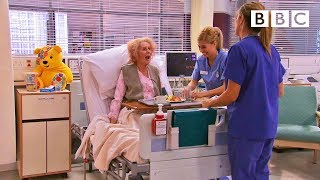 Catherine Tate's Nan returns as Holby City's worst ever patient! | Children in Need - BBC