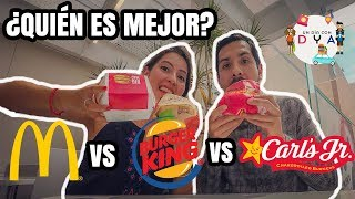 Comparando la Carls Jr., Mc Donalds y Burger King