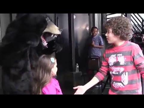 Bear Scares On Set | Nick