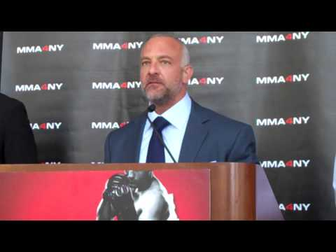 UFC conference on legalizing MMA in New York