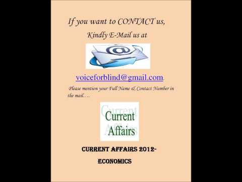2012- Current Affairs related to Economics,(By Anita Sharma)