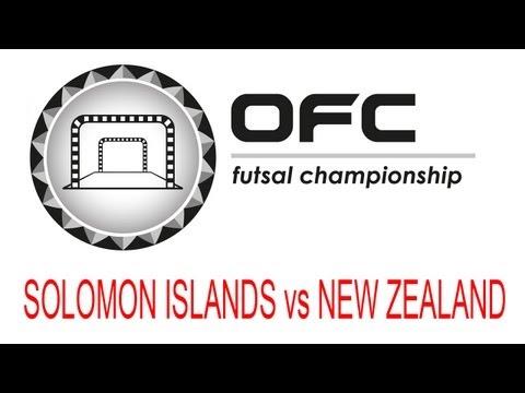 2013 OFC Futsal Championship Invitational Match Day 1 Solomon Islands vs New Zealand
