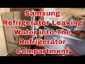 How to Fix #Samsung Refrigerator Water Accumulating inside Refrigerator Section | Model RF18HFENBSR