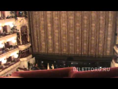 Большой театр, вид с балкона 4 и 1 яруса на tubethe.com.