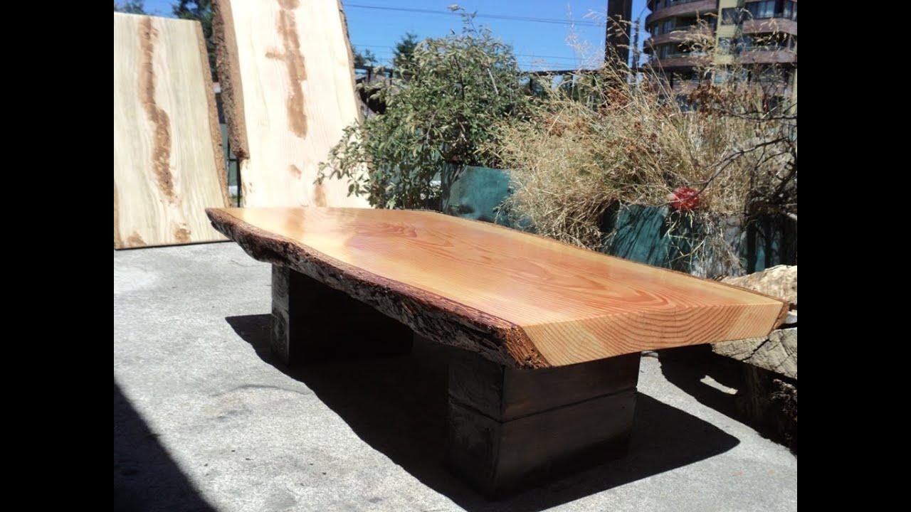 Muebles rusticos madera nativa youtube for Muebles comedores de madera