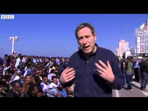 BBC News   Day two of African migrants protest in Tel Aviv, Israel