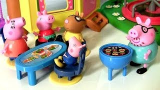 Play Doh Peppa Pig BBQ Time Hot Dog Dough with Pedro Pony & Mummy Pig Daddy Pig Nickelodeon Review