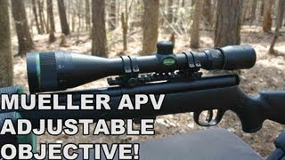 Mueller APV 4.5-14x40mm AO! Rimfire Rifle Scope and More