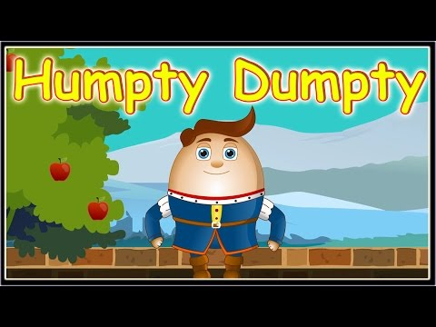 Humpty Dumpty Sat On A Wall Nursery Rhyme - Children's Rhymes songs And Animation video