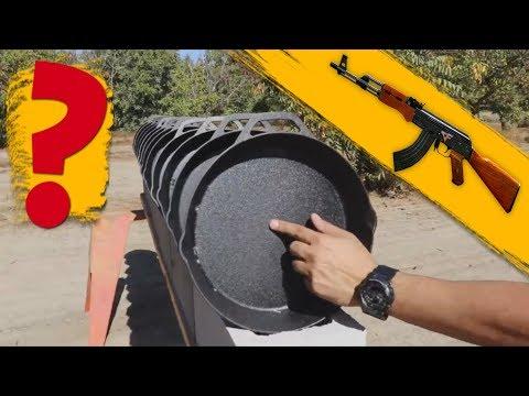 Сколько чугунных сковородок из PUBG пробивает пуля из АК ( и другое оружие )